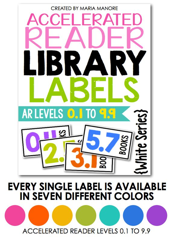 BIG Updates to help you Label Your Classroom Library… Now Featuring Accelerated Reader Labels - Kinder Craze