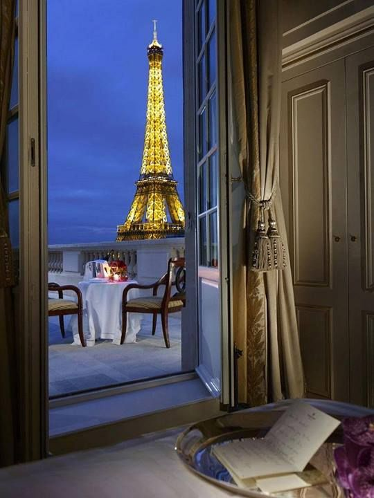 The ultimate place to stay in Paris, complete with a view of the Eiffel Tower at the Shangri-la!