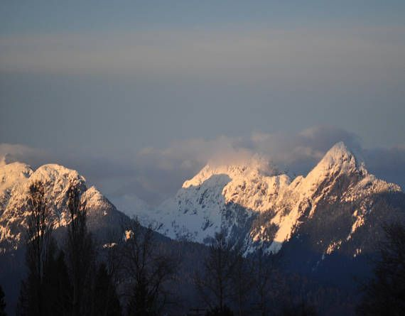 Snow Capped Mountains at