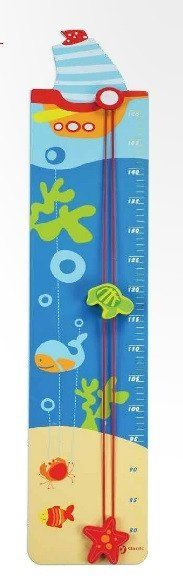 Watch your child (or children) rise like the tides! Keep track of their growth with this wooden height rod.
