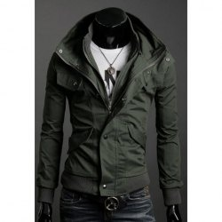 for hubs...$27.65 Handsome Slimming Stand Collar Long Sleeves Zipper Cotton Blend Casual Jacket For Men