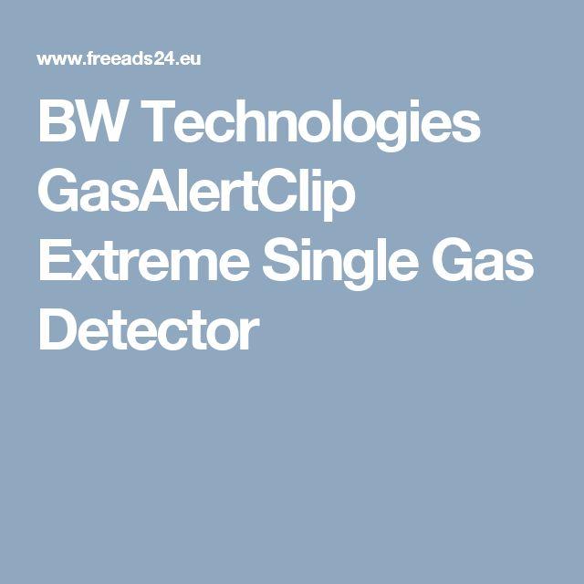 BW Technologies GasAlertClip Extreme Single Gas Detector