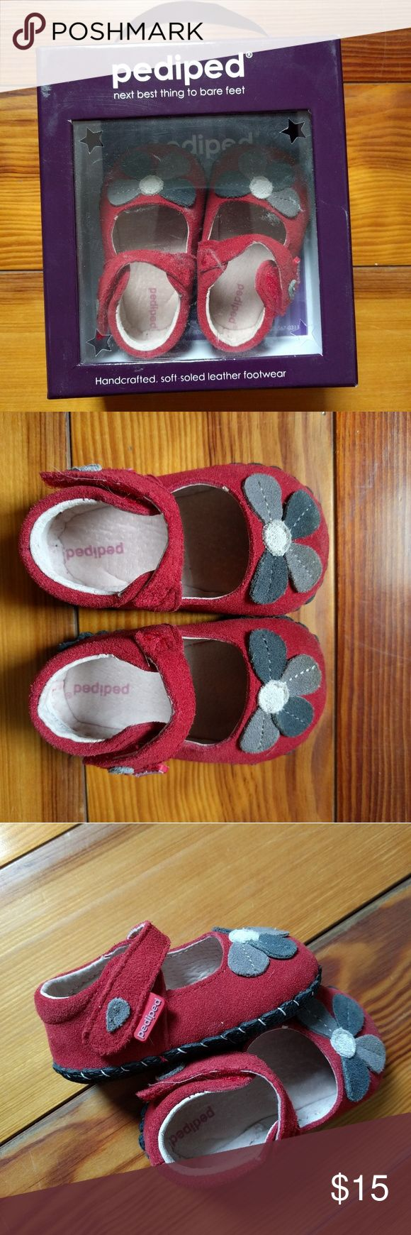 Pediped Red Shoes Size 0-6m These are so cute! Lovely red shoes in great condition! pediped Shoes Baby & Walker