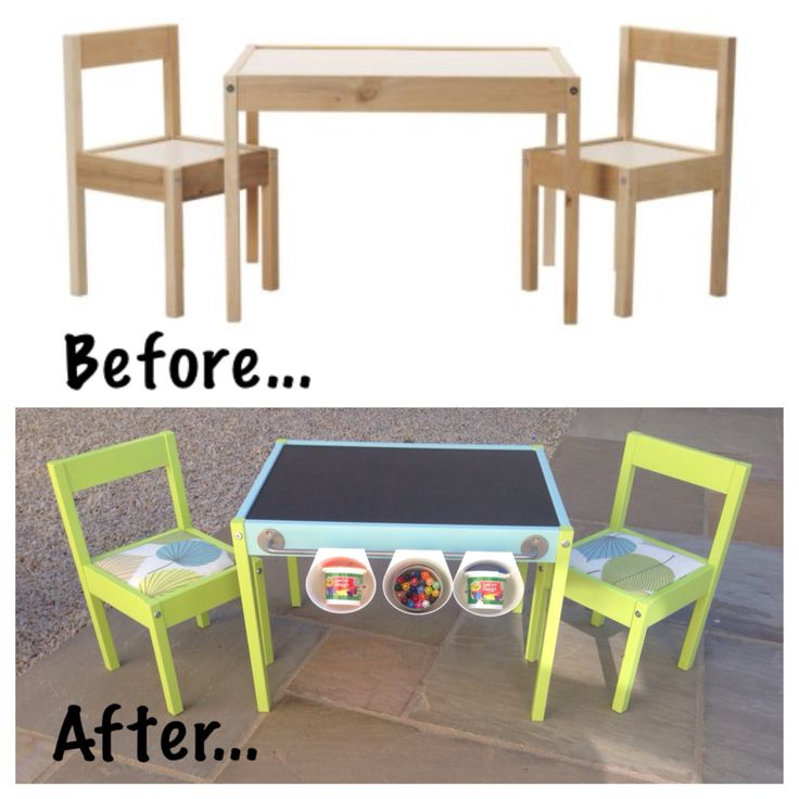 IKEA Hack for the children's Latt table and chairs! My first IKEA hack and I enjoyed every minute of it! Love the finished product too ❤️