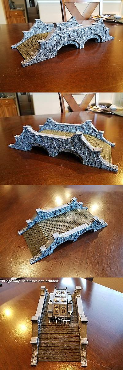 Terrain and Scenery 177640: Miniture Terrain Bridge - Hand Made And Painted. (Brand New, Never Played With) -> BUY IT NOW ONLY: $135 on eBay!