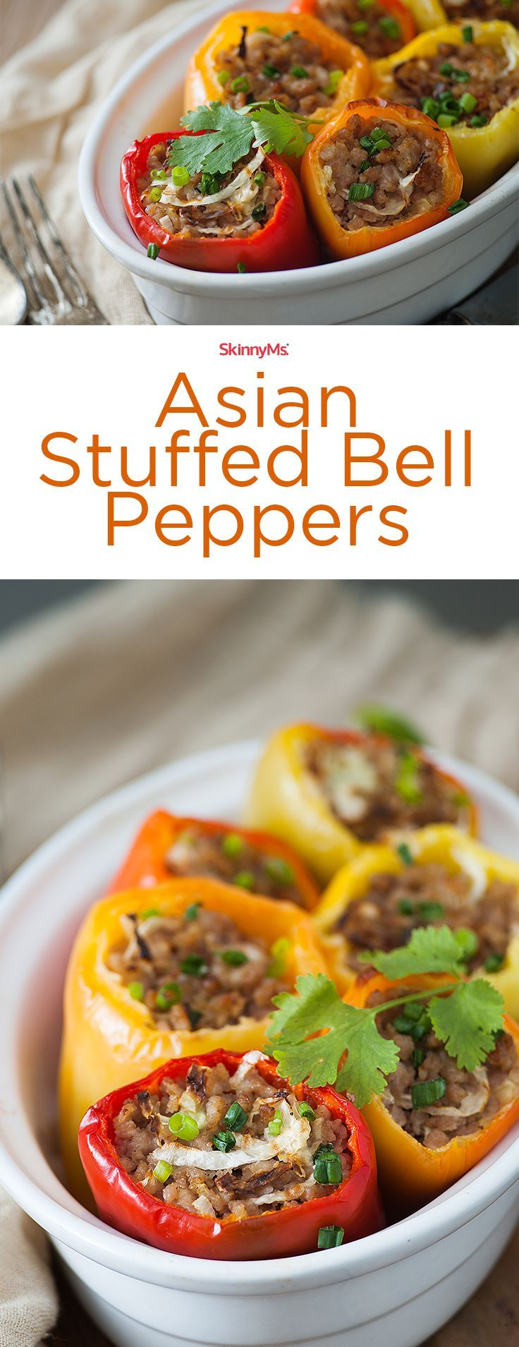 Throwing this Asian Stuffed Bell Peppers Recipe together takes less than waiting for food delivery, and is guaranteed to please your family even more!