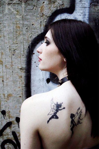 Cute Fairy Tattoo Designs For Girls, Photo  Cute Fairy Tattoo Designs For Girls Close up View.