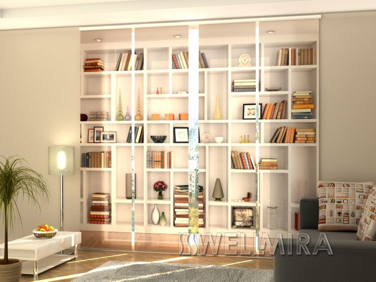 Set of 4 Panel Curtains White Bookcase  #Wellmira #ModernCurtains #PanelCurtains #Curtains #JapaneseCurtains #Fotogardine #Schiebevorhang #Flächenvorhang #Schiebegardine #White #Bookcase https://wellmira.com/collections/sets-of-4-panel-curtains/products/set-of-4-panel-curtains-white-bookcase?variant=25694088007