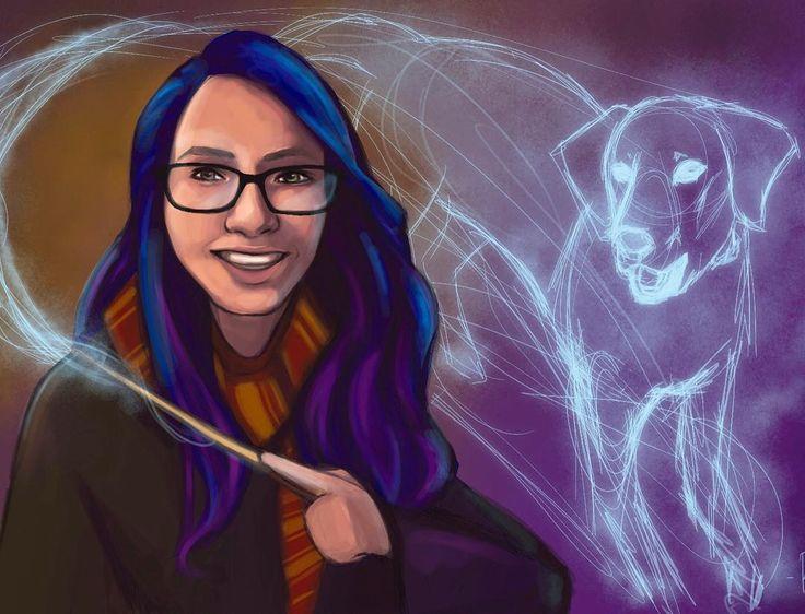 Ahora que ya ha pasado navidad puedo enseñaros algunos de los encargos que he hecho últimamente todos ellos relacionados con #harrypotter y los #patronus  Acepto encargos (no solo relacionados con harry potter) a través de mi tienda en #etsystore enlace en mi biografía  #bluehair #purplehair #magical #wizard #witch #dog #portrait #digitalart #digitalpainting #digitalportrait