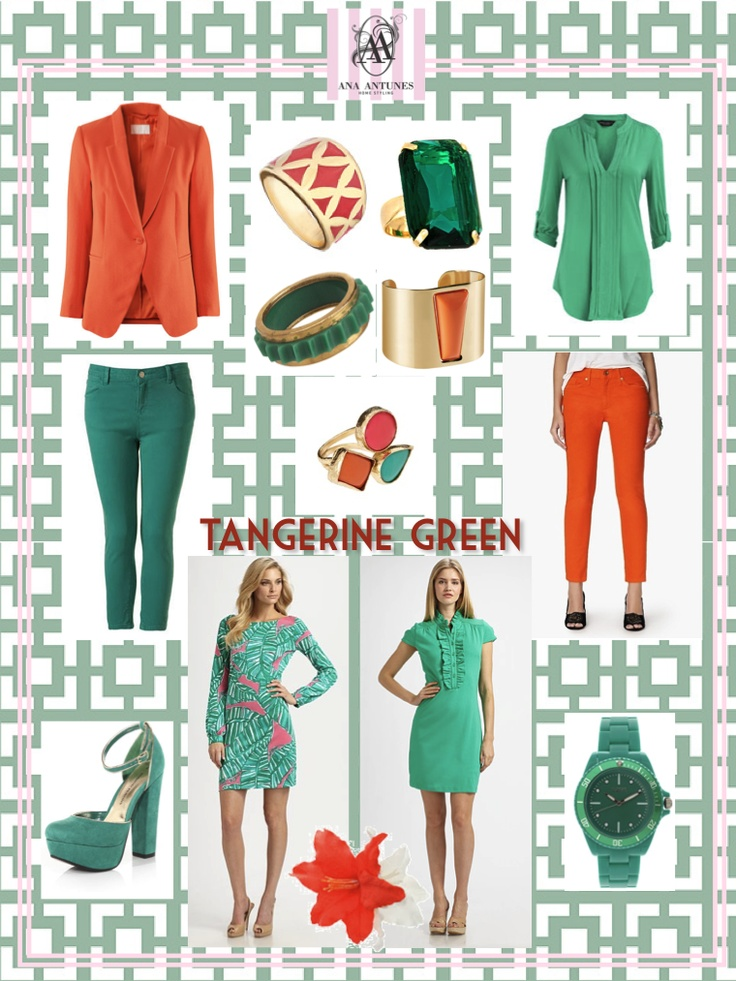 tangerine green fashion board
