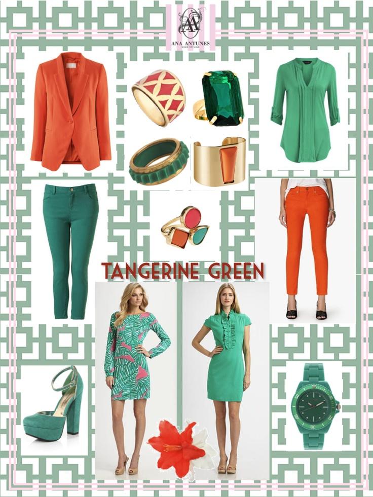 tangerine green fashion board
