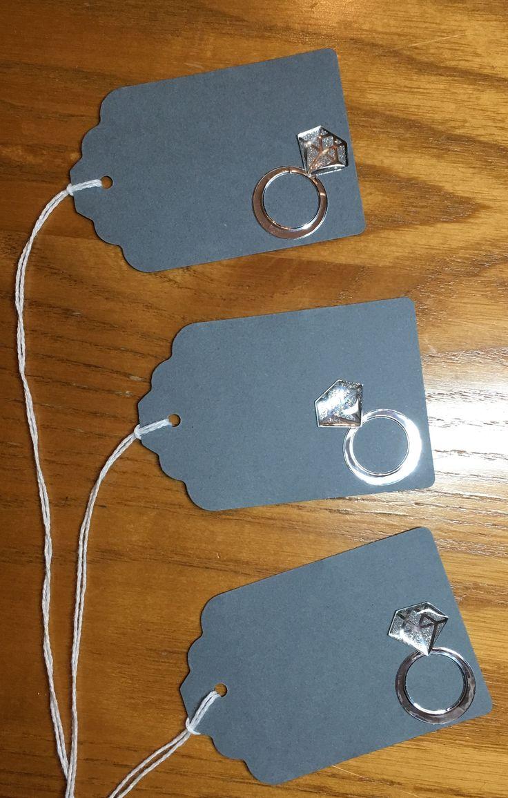 Bridal Shower Decor Ideas || Engagement Party Favor Tags - Bridal Shower Favor Tags - Diamond Ring Favor Tag - Bride Favor Tags - Engagement Ring Favor Tags - Wedding Favor Tags || engagement party bridal shower  engagement ring diamond bling bling  etsy.com/shop/partyplacecards