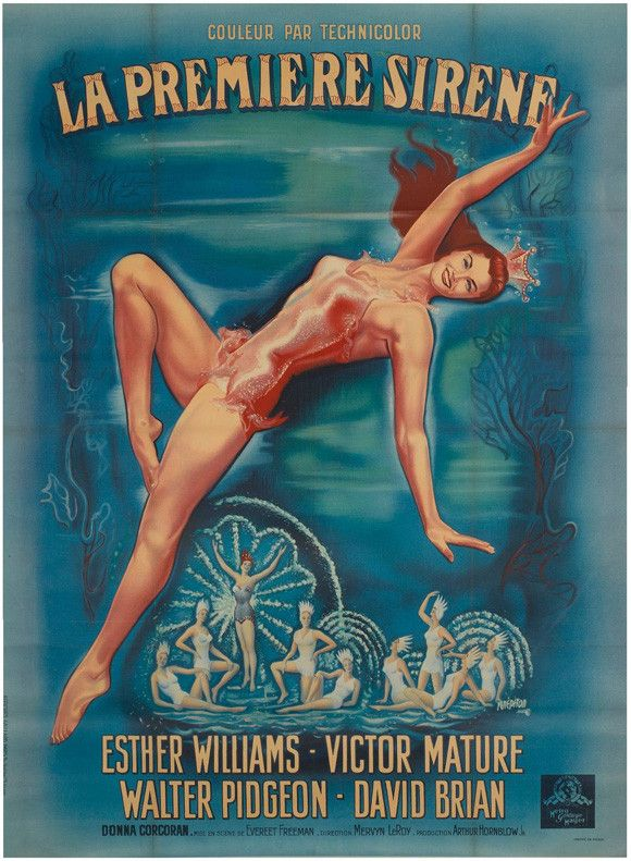 Million Dollar Mermaid 27x40 Movie Poster (1952)