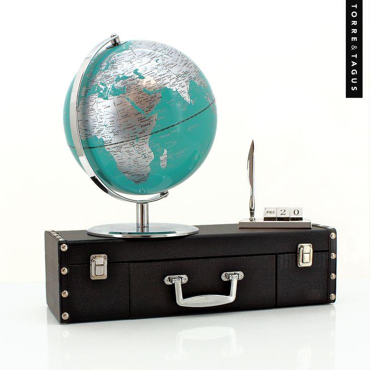 Get inspired to take a trip around the world! Plan your next adventure with this stylish Latitude World Globe. #TorreAndTagus #TravelHomeDecor #WorldGlobe  www.torretagus.com