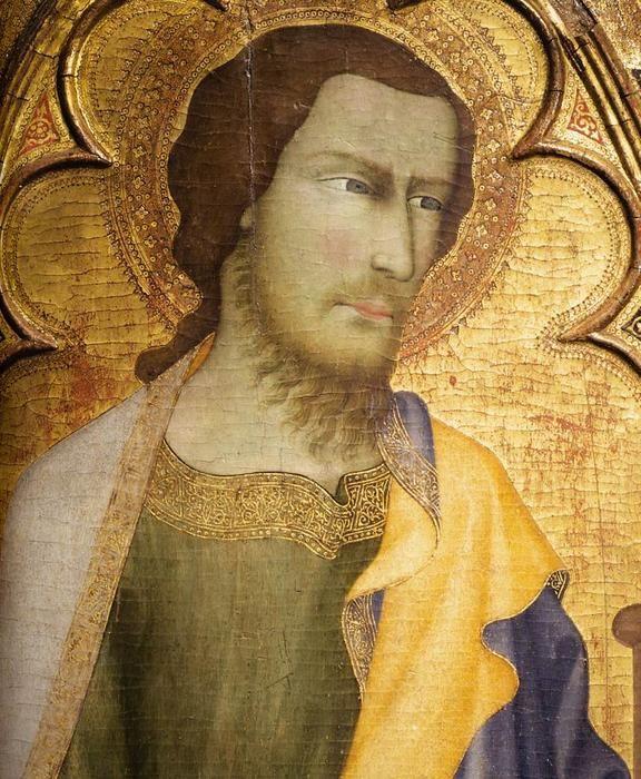 San Giacomo il Maggiore (particolare), tempera di Andrea Di Vanni D'andrea (1332-1414, Italy) 1355 - (Museo Nazionale di Capodimonte Naples, Italy)   #TuscanyAgriturismoGiratola