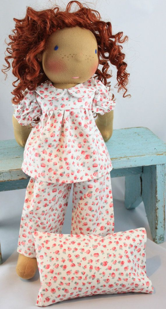 18-20 inch Waldorf Doll 3 pc Jammies by reggiesdolls on Etsy