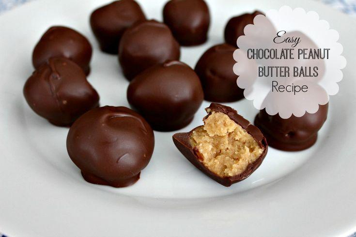 Easy Chocolate Peanut Butter Balls Recipe