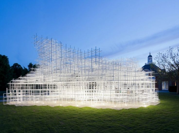 Serpentine Gallery Pavilion 2013 / Sou Fujimoto - Serpentine Gallery Pavilion 2013 - The latest pavilion, designed by Japanese architect Sou Fujimoto, opened on 8 June and runs until 20 October. Fujimoto, the youngest of the 13 architects tapped for the annual pavilion in London's Kensington Gardens, envisioned the structure as an assemblage of white grids that is organic, almost cloudlike...