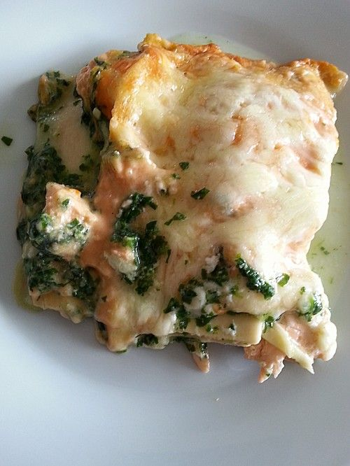 Lachs-Lasagne mit Spinat, ein leckeres Rezept aus der Kategorie Fisch…