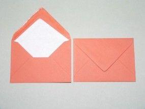 Farbige Briefumschläge, Mandarinorange, DIN C6 (114 X 162mm), ohne Fenster, nassklebend, 100g