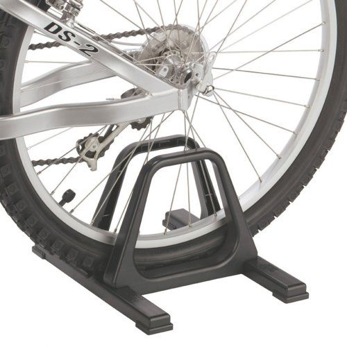 "gearup The Grand Stand Single Bike Floor Stand, Black. Racks can carry as many as 4 bikes. Aesthetically pleasing. No Permanent installation required. The Grandstand single bike rack offers portable, lightweight storage. Ideal take-along storage for races and rallies. Engineering grade ABS plastic molded construction is rugged and waterproof and adjustable to fit tires up to 2 ¼ "" wide."