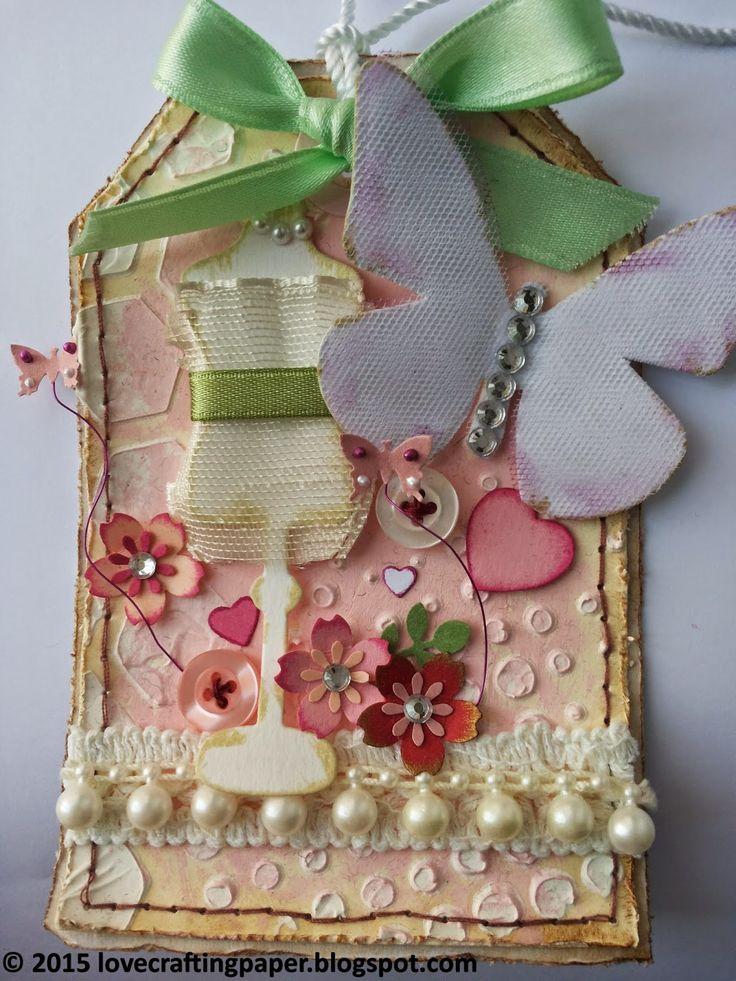 lovecraftingpaper: Tag Manichino vintage - Vintage dummy tag