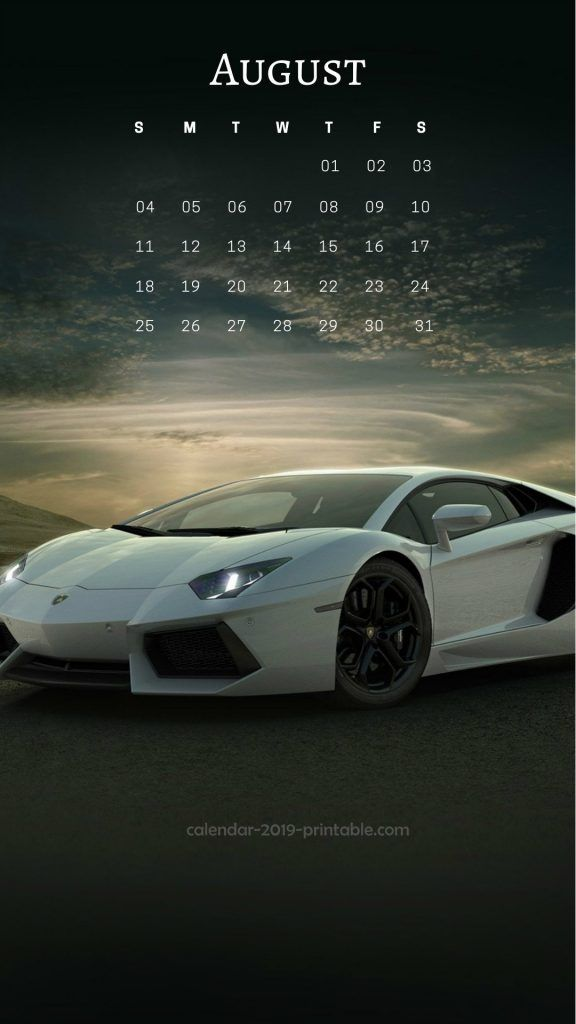 august 2019 iphone calendar wallpaper