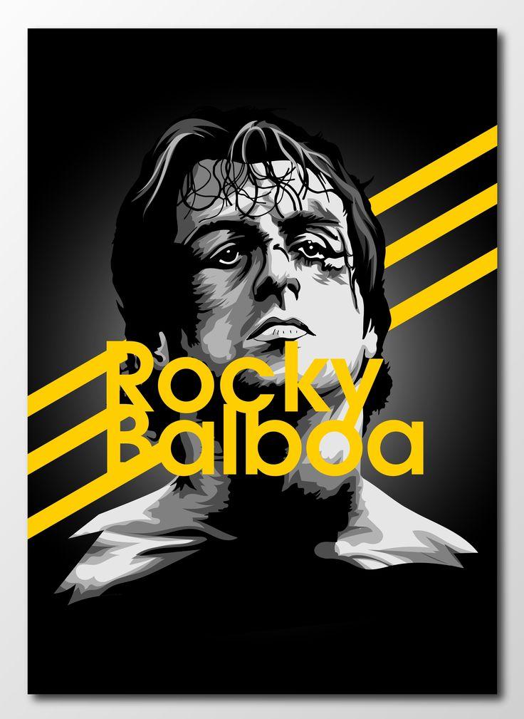 #project366 an #illustration a day continues with Rocky Balboa!   #rocky #rockybalboa #italianstallion #newart #design #designer #graphicdesign #graphics #sketch #sketchbook #portrait #popculture #sylvesterstallone #boxing #film #retroart #classicfilm #70s #underdog