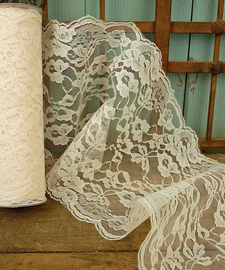 Ivory 9'' Lace Ribbon | something special every day