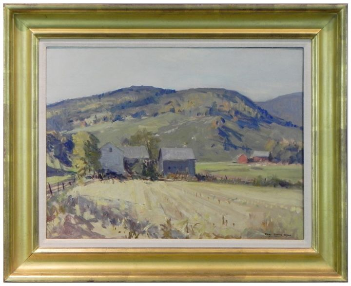 "Oil on Canvas 18"" x 24"" Vermont Corn Fields Charles Curtis Allen $2700"