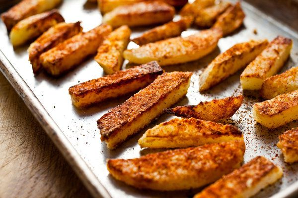 patatine fritte di cavolo rapa. amo.