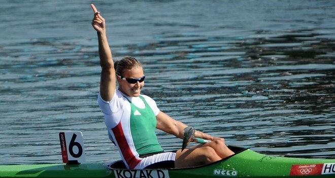 Danuta Kozák - Women's Kayak Single (K1) 500m | Gold Medalist.  Hungary's Danuta Kozak took the gold medal in the women's K1 500 metres as British hope Rachel Cawthorn came home in sixth position.   photo: Sky Sports  www.budpocketguide.com