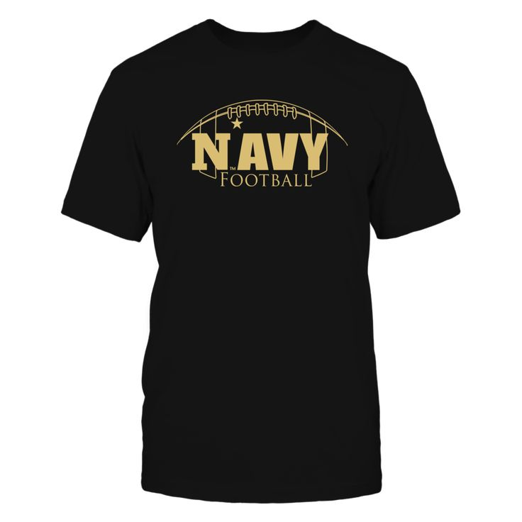 """Navy Football Apparel - Gold on Navy T-Shirt, _Officially licensed Navy Football Apparel. _ The US Navy football team is highlighted during the 3rd season of the popular Showtime show """"A Season with Navy Football""""  The popular show that follows a NCAA football team through their season.  Follow the hashtag #ASeasonWith on Twitter and find... The Navy Midshipmen Collection, OFFICIAL MERCHANDISE  Available Products:          Gildan Unisex T-Shirt - $25.95 Gildan Long-Sleeve T-Shirt - $33.95…"""