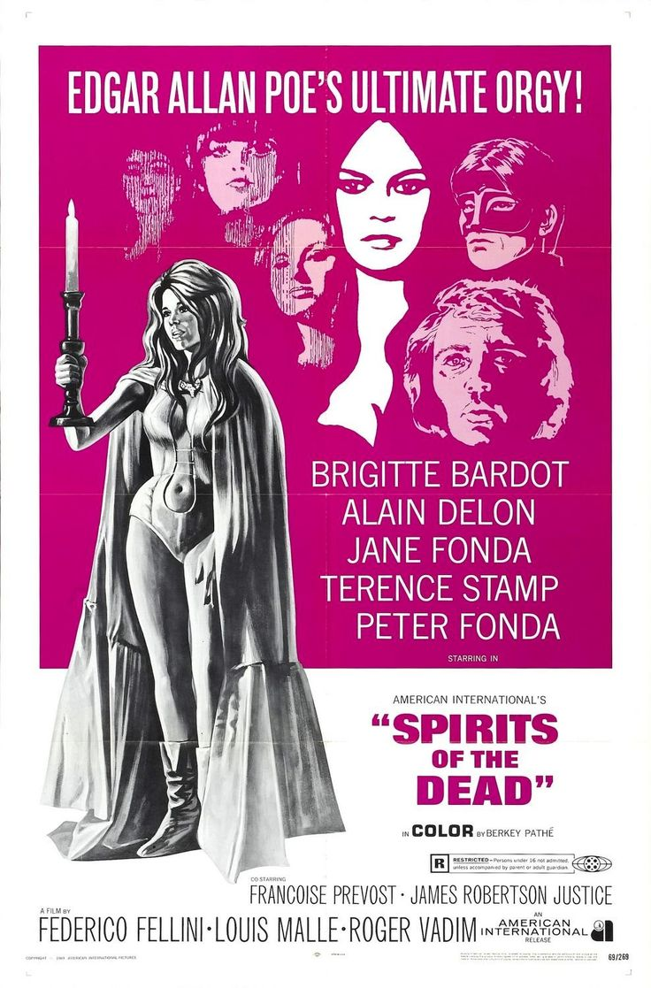 Histoires extraordinaires / Spirits of the Dead (1968) | Directors Federico Fellini, Louis Malle, Roger Vadim In the best of the three episodes making up this portmanteau of adaptations of tales by Edgar Allan Poe, Federico Fellini cast Stamp as a degenerate, drug-addled British actor come to Rome to play Christ in a Catholic Western.