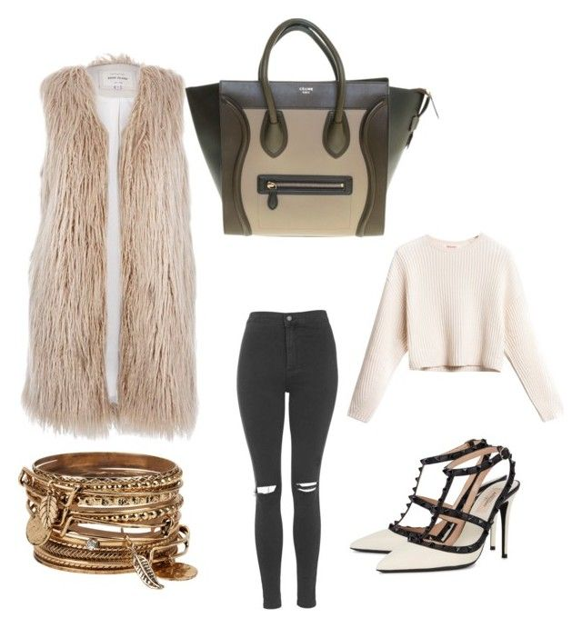 """Coffee with friends ~"" by dreaaaman on Polyvore featuring Valentino, Topshop, River Island, CÉLINE and ALDO"