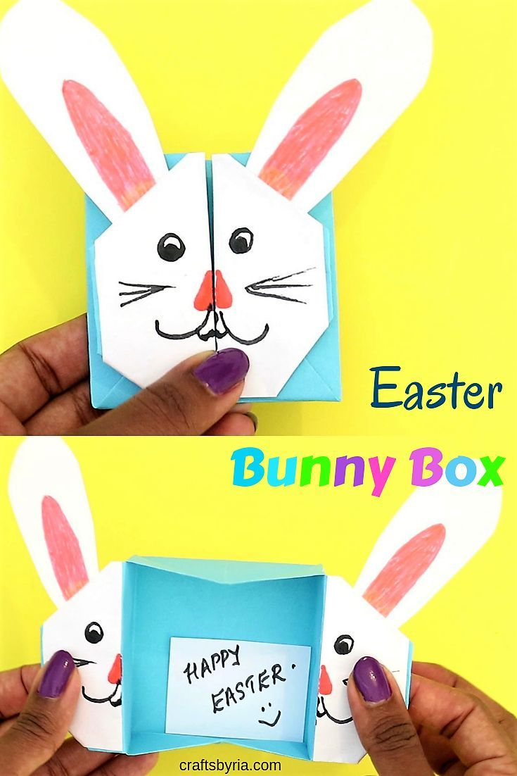 Easter Bunny Box Cute Easter Craft For Kids Spring Easter Crafts