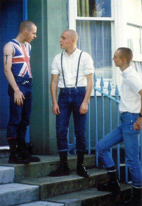 skinheads in the 70s begin to appear and it spreads to the US