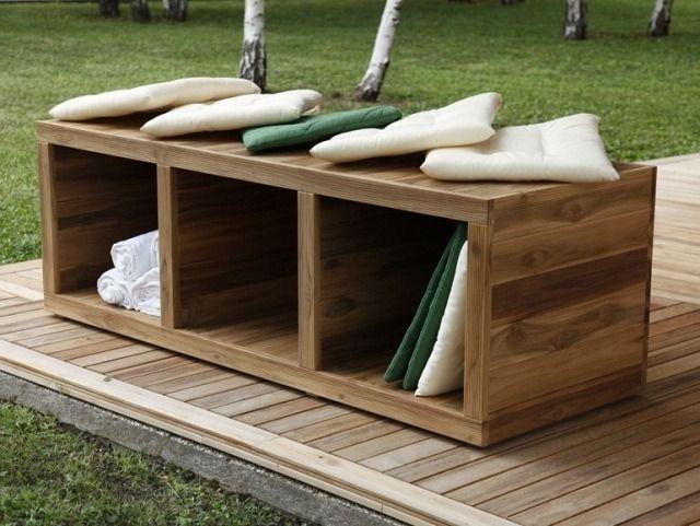banc en bois avec rangement: Turtle par MENOTTI SPECCHIA