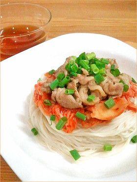 マヨ豚キムチで☆スタミナぶっかけ素麺 by ぷよりんご [クックパッド] 簡単おいしいみんなのレシピが246万品