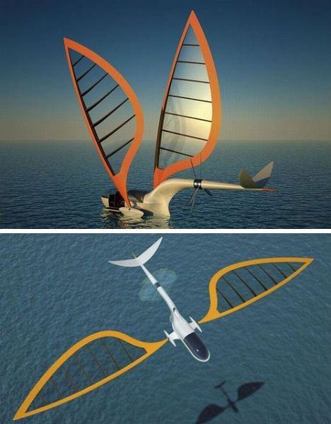 Cap 8: El velero que el grupo viajan en con la capitán Helena, la madre de Jacob. El velero puede aprovechar al máximo la velocidad del viento y volar.