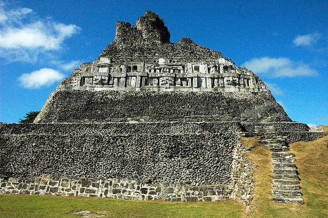 Visiting this place was amazing. Xunantunich (pronouned Su-nan-tu-nich). It means Maiden of the Rock. It is the second tallest Maya ruin in Belize and is located across the river from the village of San Jose Succotz in the Cayo district. It stands 13