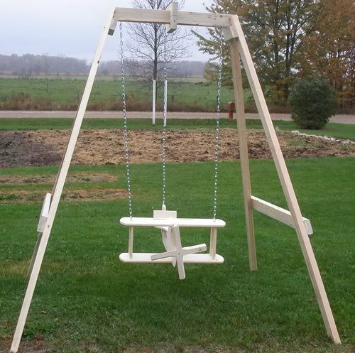 Wooden airplane swing plans woodworking projects plans for Unique swings for kids