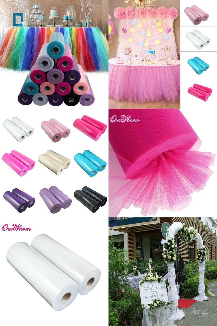 [Visit to Buy] 100 Yards Tulle Rolls DIY Decorative Crafts Multicolor Tulle RollS Spool for Wedding Decoration Event Party Supplies Wholesale #Advertisement