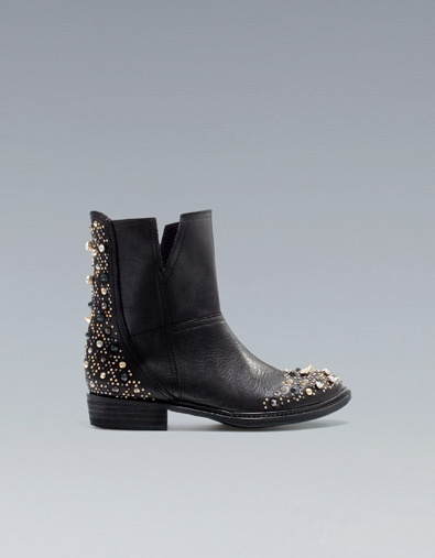 FL;AT JEWELLED ANKLE BOOT - Ankle boots - Shoes - Woman - ZARA-625 aed