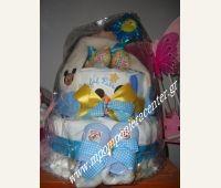 Τούρτα για νεογέννητο αγοράκι δίπατη