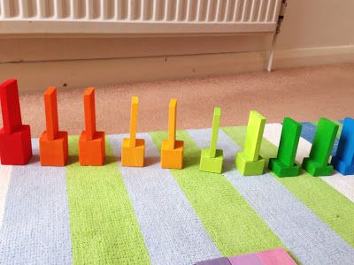 Stopniowanie kolorów inspirowane Montessori. Montessori inspired colour grading activity.