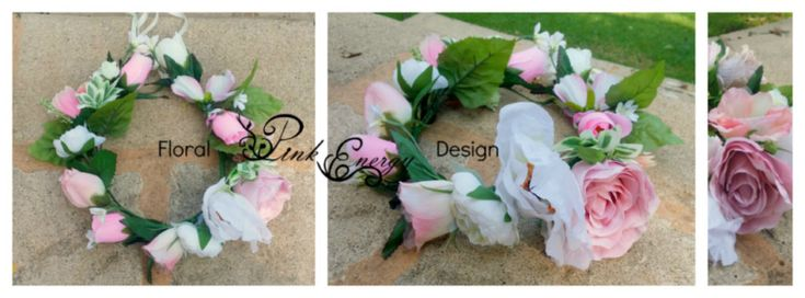 Full flower crown for the Maid of Honour - Silk Flowers - adult size, adjustable - Style in between thin and chunky.