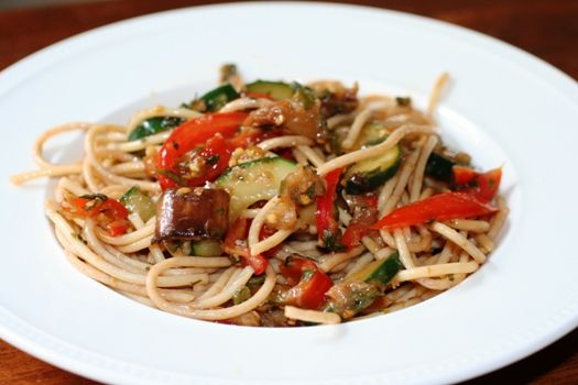 Thai Eggplant and Tomato Pasta Salad | Recipe
