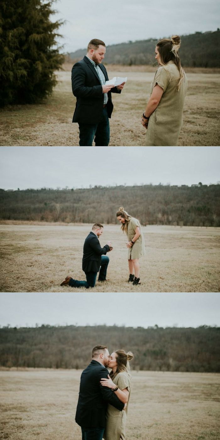 This marriage proposal is so emotional, and he even wrote her a love letter!