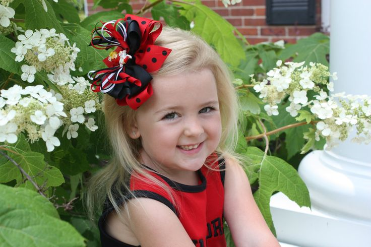 images of hair bows for little girls | Cheerleader hair bow made to order in many by CookieandMaxBoutique